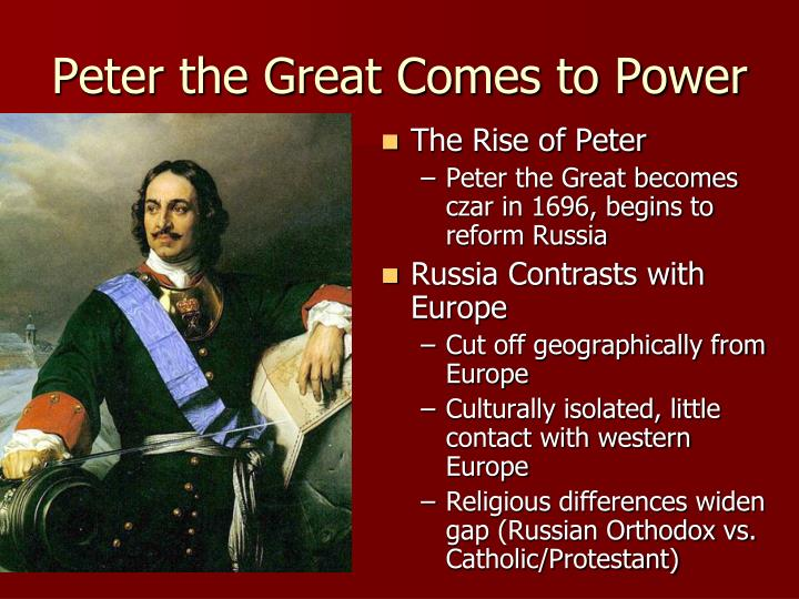 a look at the life of peter the great the ruler of russia The first romanov ruler - mikhail (1613-1645) - was one of the most serene tsars ever to sit on the russian throne  was the father of the reformer peter the great he had the moniker of.