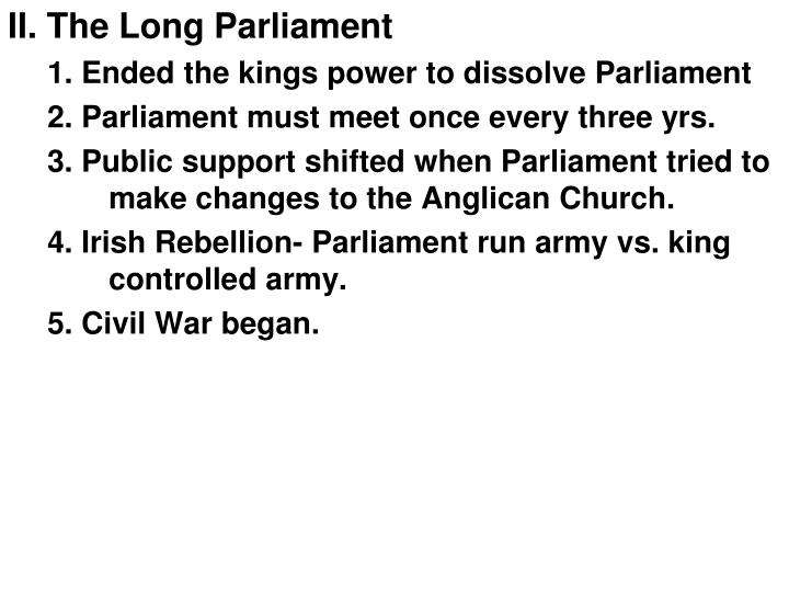 II. The Long Parliament
