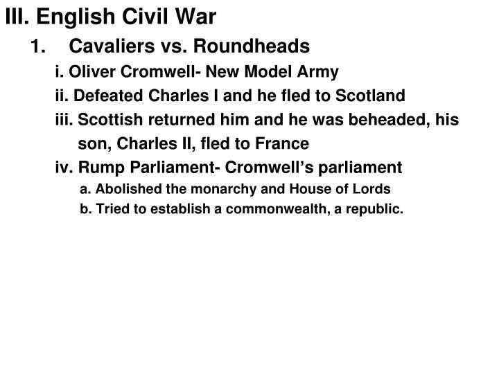 III. English Civil War