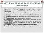 art 134 responsabilidade de terceiros
