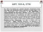 art 185 a ctn