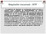 dep sito recursal stf