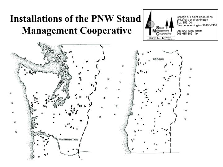 Installations of the PNW Stand