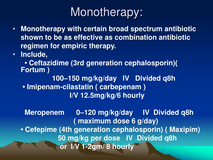 Monotherapy: