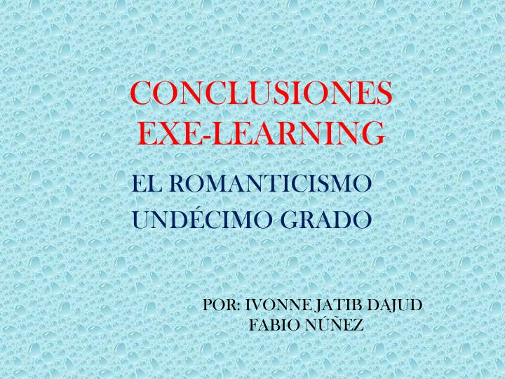 conclusiones exe learning