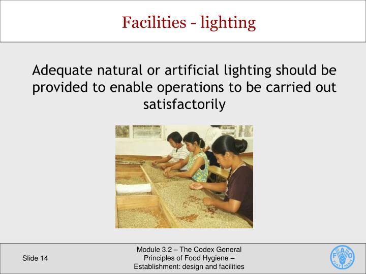 Facilities - lighting