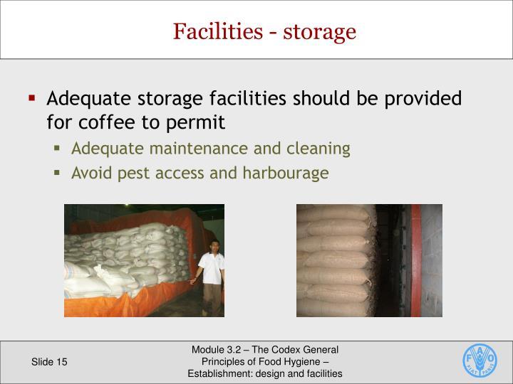 Facilities - storage