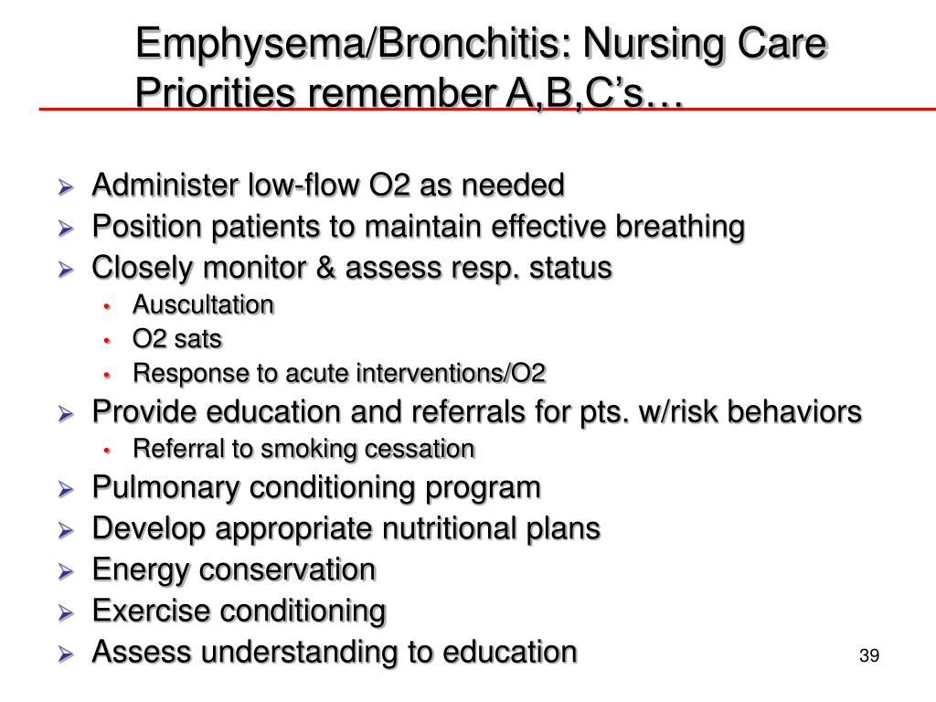 Emphysema Nursing Diagnosis - Asthma Lung Disease