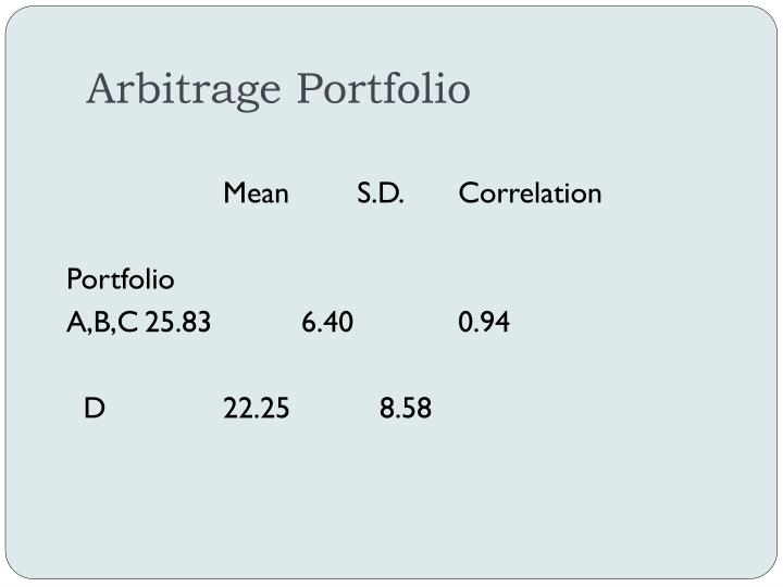 Arbitrage Portfolio