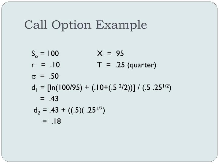 Call Option Example