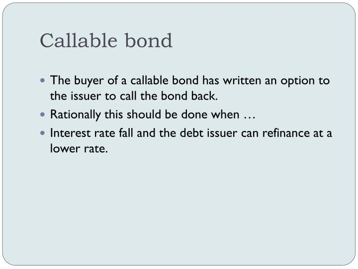 Callable bond