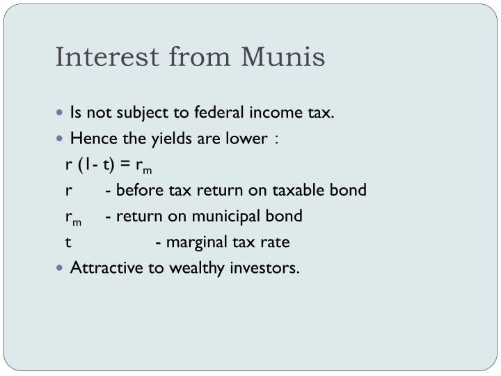 Interest from Munis