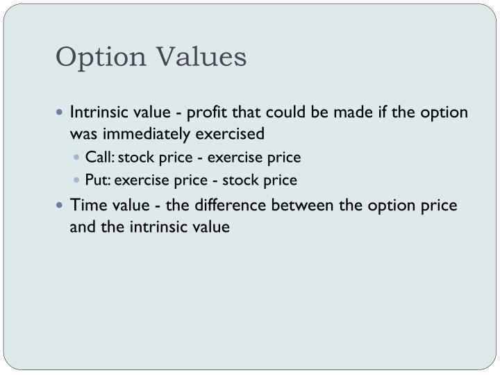 Option Values