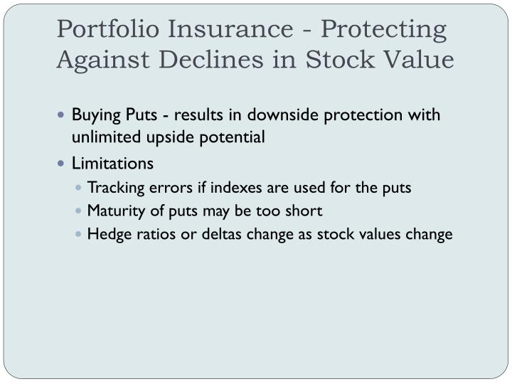 Portfolio Insurance - Protecting