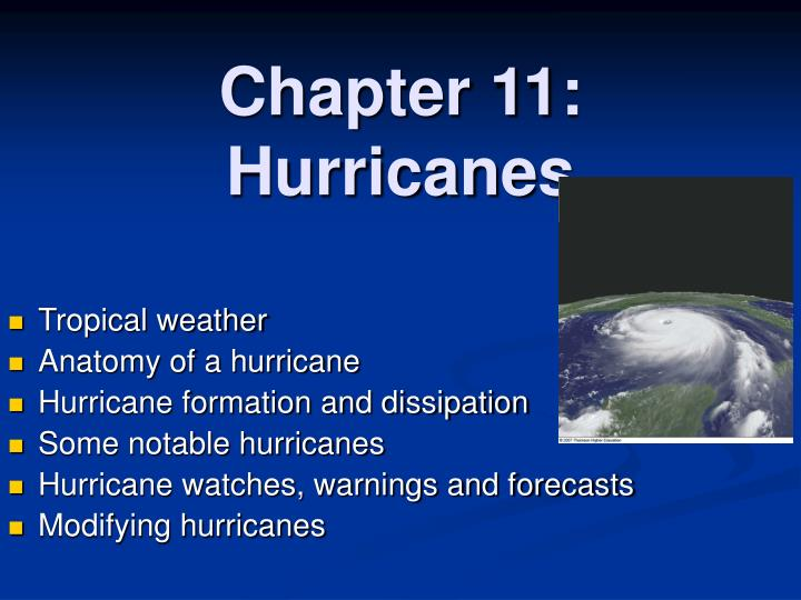 Ppt Chapter 11 Hurricanes Powerpoint Presentation Id5178047