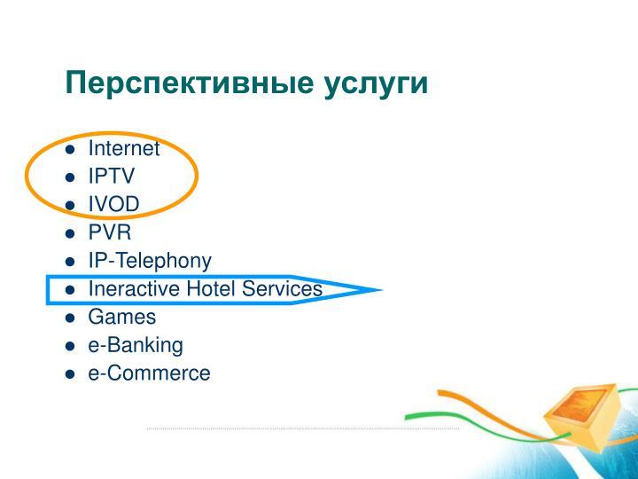 Перспективные услуги