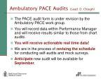 ambulatory pace audits lead d clough