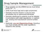 drug sample management