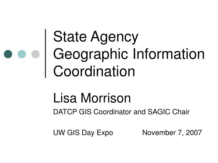 state agency geographic information coordination n.