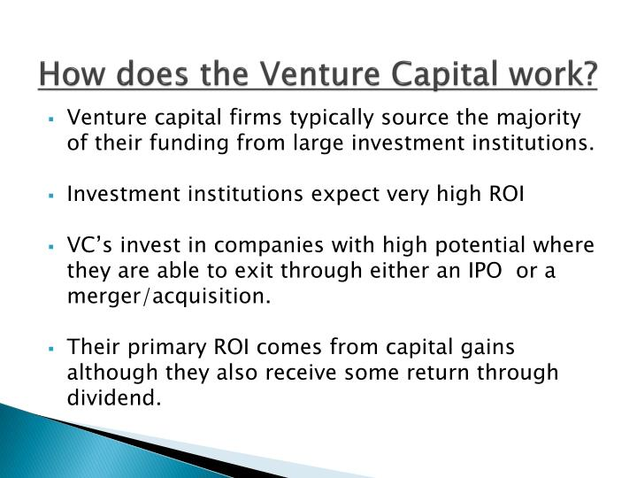 How does the Venture Capital work?