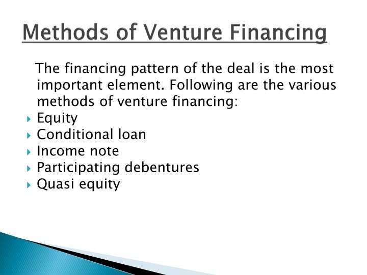 Methods of Venture Financing