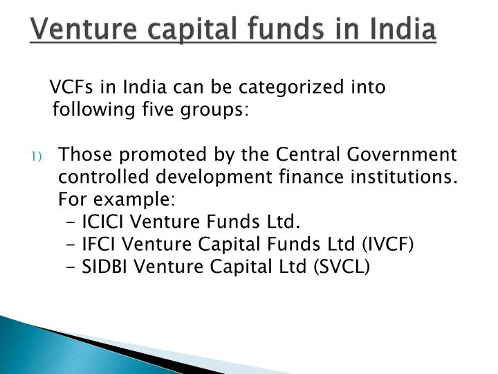 Venture capital funds in India