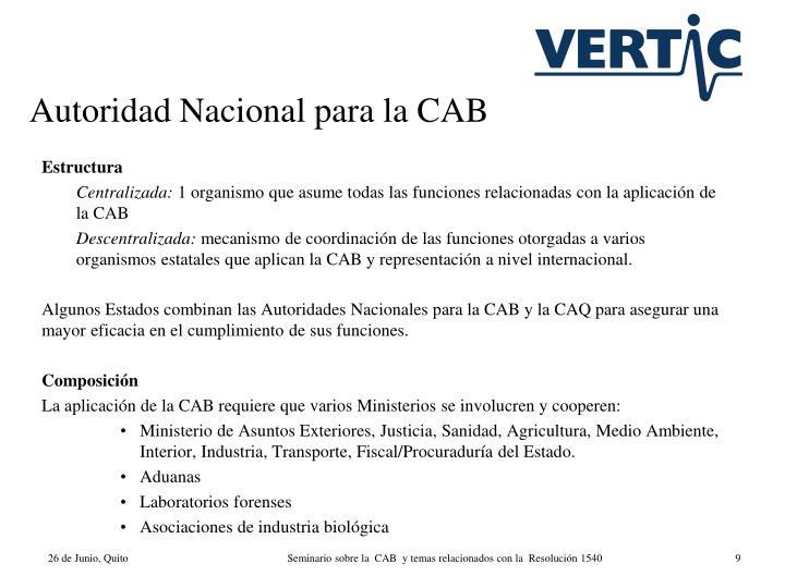 Autoridad Nacional para la CAB