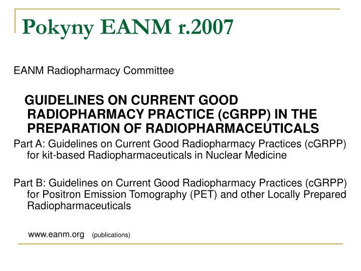 Pokyny EANM r.2007