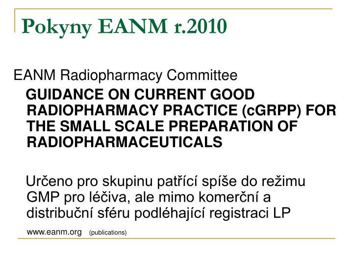 Pokyny EANM r.2010