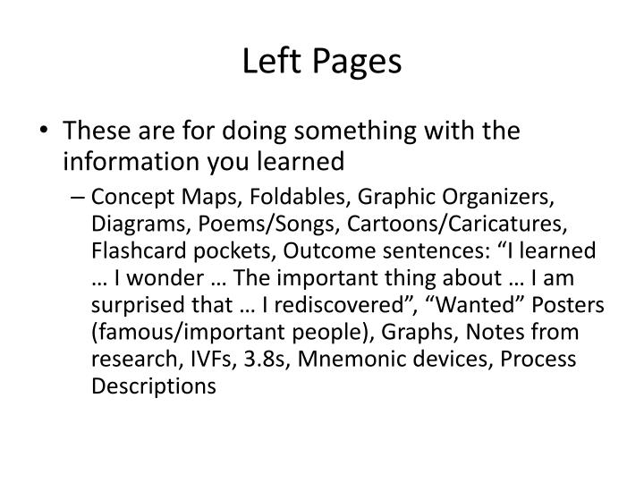 Left Pages