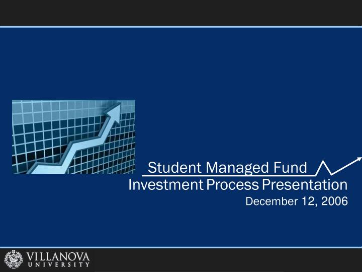 student managed fund n.