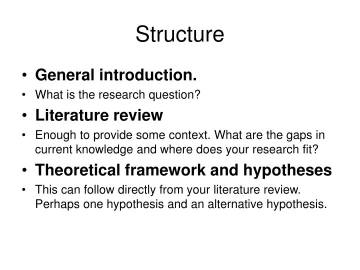 why should literature review be connected with research question and hypothesis Is the following statement an example of a topic, research problem/problem statement, statement of purpose, research question, or hypothesis : the purpose of the study is to test an intervention to reduce chemotherapy induced side effects- specifically, to compare the effectiveness of patient controlled and nurse administered antiemetic.
