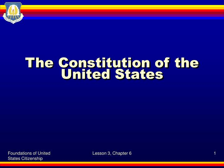 the constitution of the united states n.