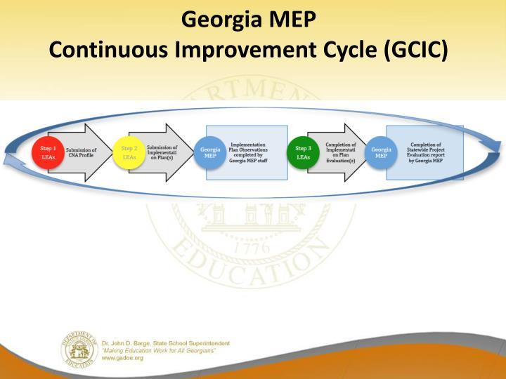 Georgia mep continuous improvement cycle gcic
