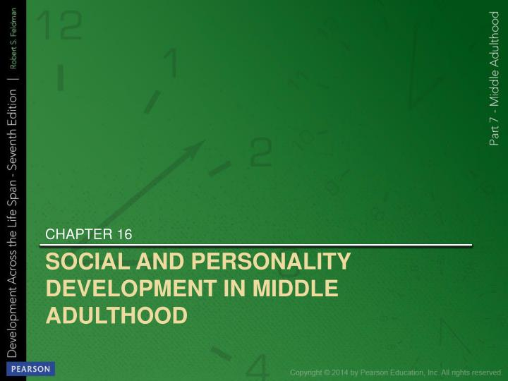 social and personality development in middle adulthood n.