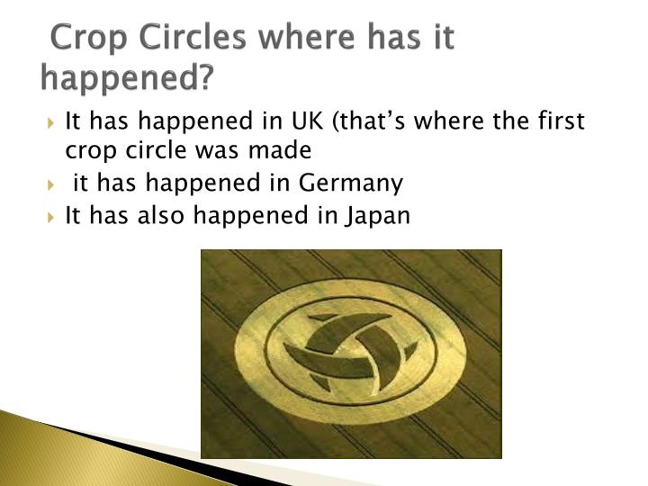 Crop Circles where has it happened?