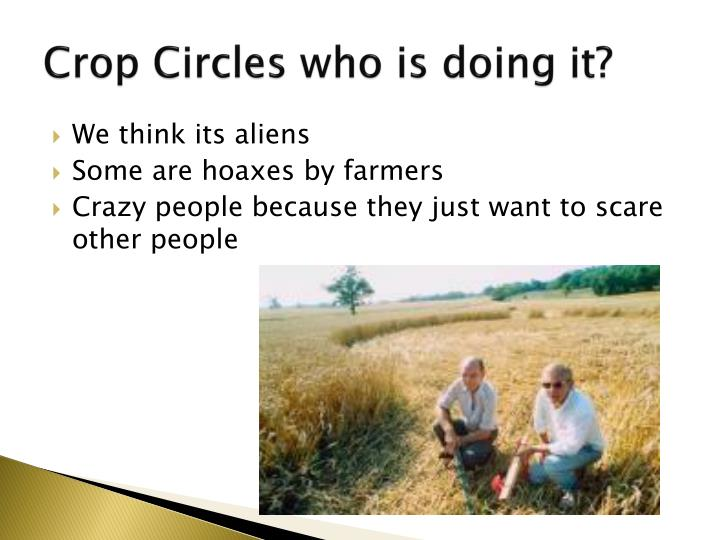 Crop circles who is doing it