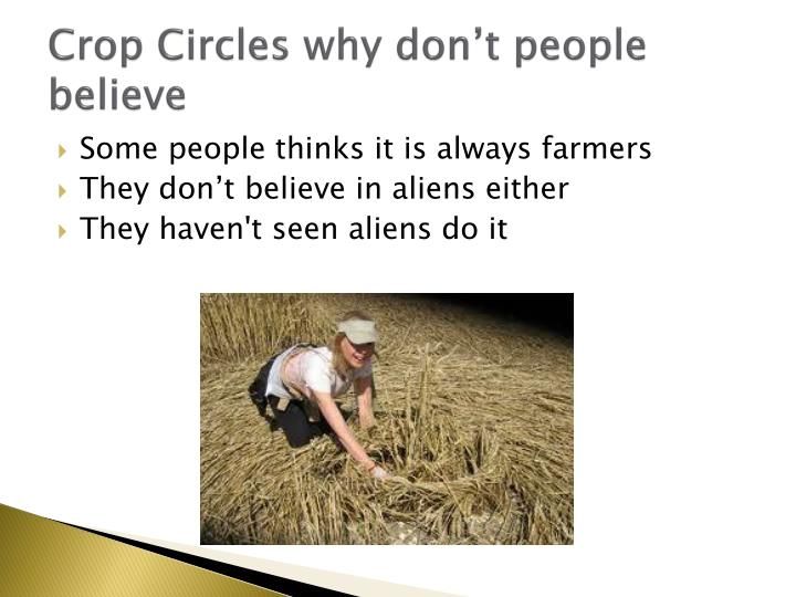 Crop Circles why don't people believe