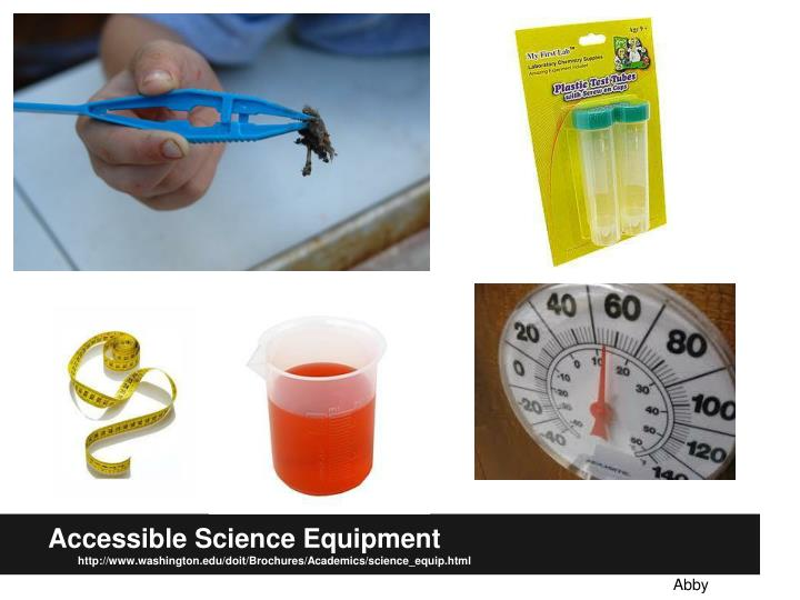 Accessible Science Equipment