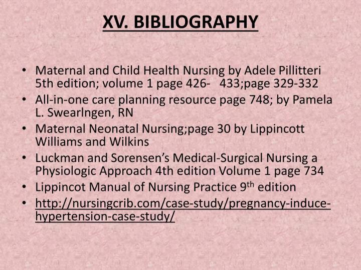 XV. BIBLIOGRAPHY