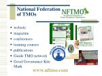 national federation of tmos