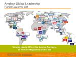 amdocs global leadership partial customer list