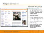 webgate connection