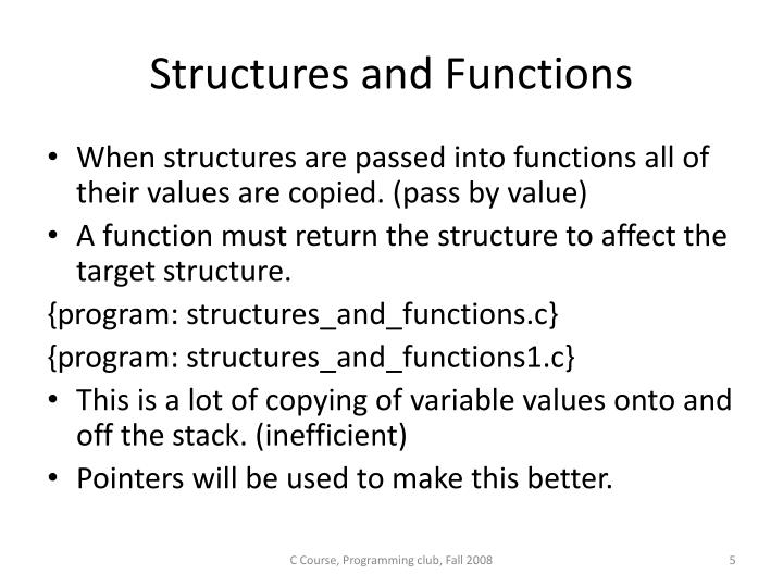 Structures and Functions