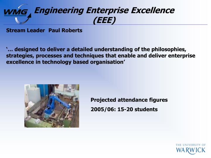 Engineering Enterprise Excellence