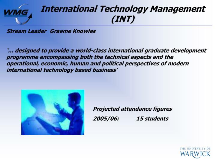International Technology Management