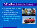 p problem state the problem