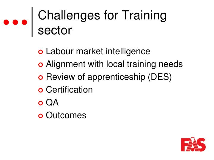 Challenges for Training sector