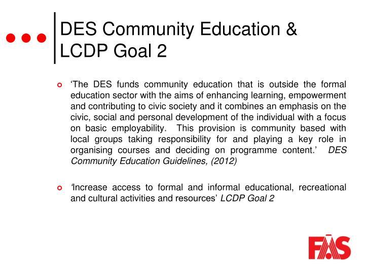 DES Community Education &