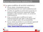 nuova informazione statistica 7